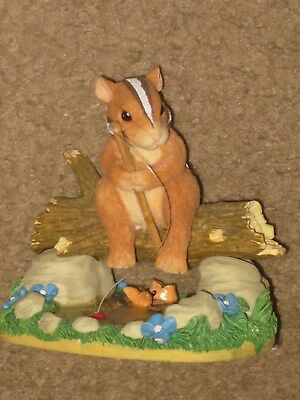 "CHARMING TAILS ""GONE FISHIN"" (CHIPMUNK)  3.5"" Figurine LN"