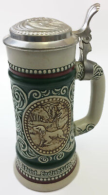 1978 AVON BEER STEIN LIDDED RAINBOW TROUT & ENGLISH SETTER 229154 Vintage