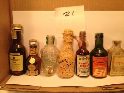 Vintage Miniature Glass airline Liquor Bottles RARE EMPTY - other lots offered