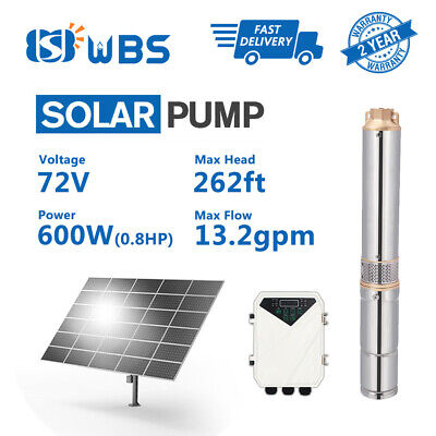 """3"""" DC Deep Well Solar Water Pump 72V 600W Bore Hole Submersible MPPT Controller"""