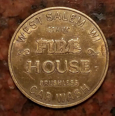 Fire House Car Wash Token West Salem, Wisconsin - #1391
