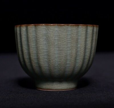 Awesome Nice Chinese Exquisite Rare Old Green Porcelain Cups Marked C060