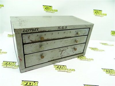 Nice Huot Letter Drill Bit Index Bench Top A-Z