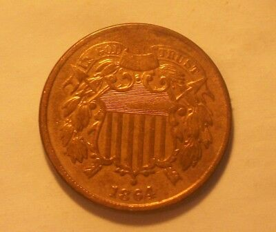 ***1864  Two Cent Piece  Scarce Old Coin""""