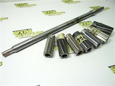 """7Pc Hss Shell Reamers 1-1/64"""" To 1-1/4"""" Dia W/ Standard #6-S Extra Length Arbor"""