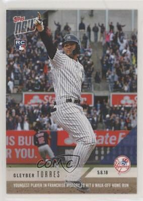2018 Topps Now/4766 #180 Gleyber Torres New York Yankees Rookie Baseball Card