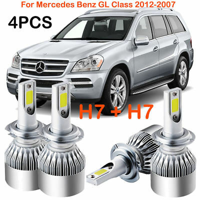 CREE H7 CREE LED Headlight Kits Power Bulbs For Mercedes Benz GL Class 2012-2007