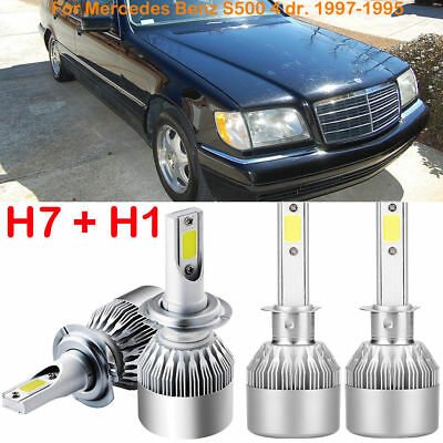 CREE H1 H7 LED Headlight Kit Bulb Replace For Mercedes-Benz S500 4 dr. 1997-1995