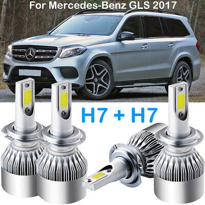 CREE H7 LED Headlight Kits Power Bulbs 6000K Replace For Mercedes Benz GLS 2017
