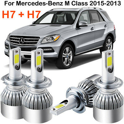 CREE H7 LED Headlight Kit Power Bulb Replace For Mercedes Benz M Class 2015-2013