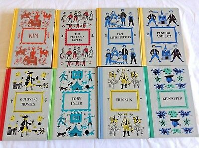 8 JUNIOR DELUXE EDITIONS BOOKS (1950'S) Bulk Lot! Gulliver's Travels Freckles