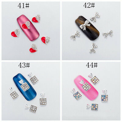 New Chic 10Pcs 3D Nail Art Glitter Decoration Colorful Rhinestones Accessories