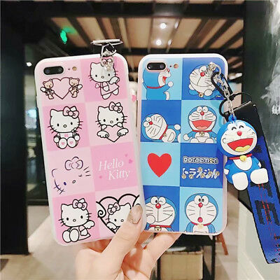 a4a6b34f5 3D Doll Hellokitty Doraemon Silicone Phone Case Cover For iPhone X 8 7 6/6s