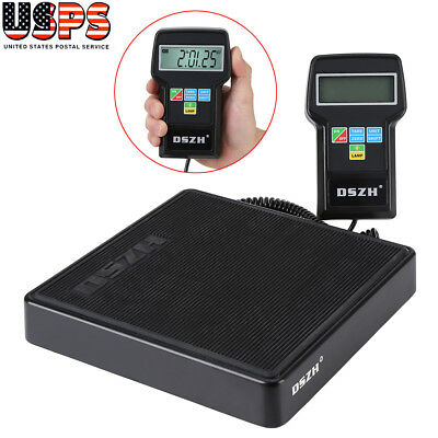 US SHIP Digital Refrigerant Electronic Charging Scale 220 lbs for HVAC with Case