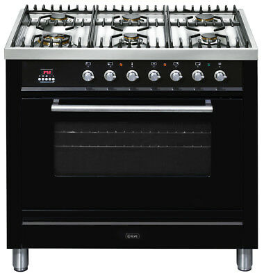 Ilve 90cm Gas Freestanding Cooker - NT906WVG/N