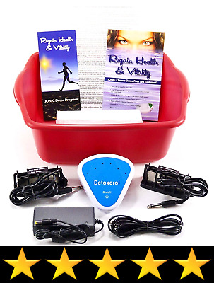 Ionic Detox Foot spa bath Chi Cleanse Unit for Home Use With Free Foot Basin an
