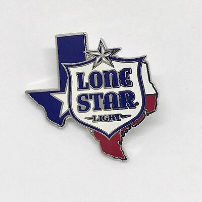 **RARE BRAND NEW** Lone Star Beer Metal Pin Texas State / Red White & Blue