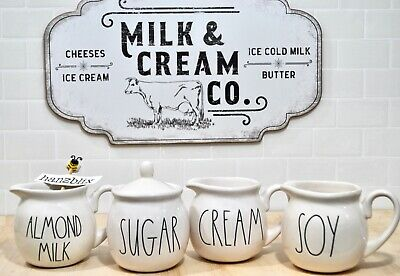 "RAE DUNN SUGAR CREAM SWEET SYRUP MILK Carafe Sugar Creamer ""YOU CHOOSE New'18-19"