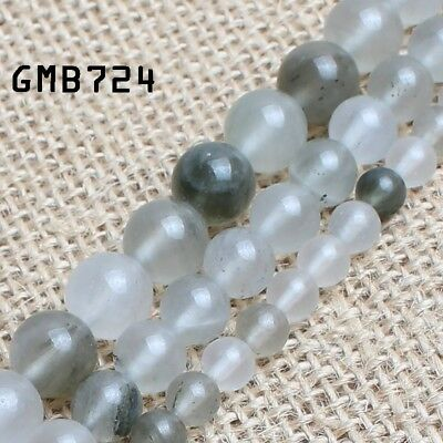 Natural Grey Green Quartz Round Loose Beads for Jewelry Making 15'' 6/8/10mm