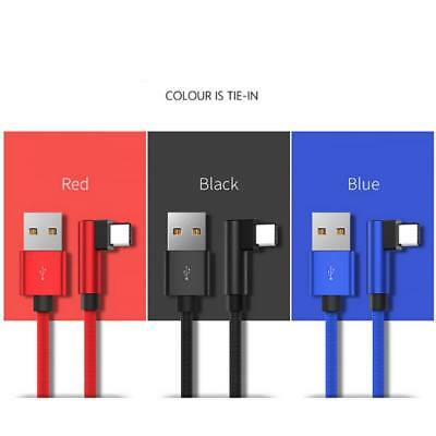 90 Degree Elbow Type C iOS Micro USB Fast Data Sync Charging Charger Cable Line