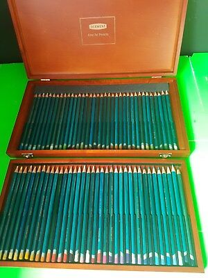 Derwent 72s Pencil Art Set in Wooden Case BUYER TO COLLECT SURRY HILLS NSW