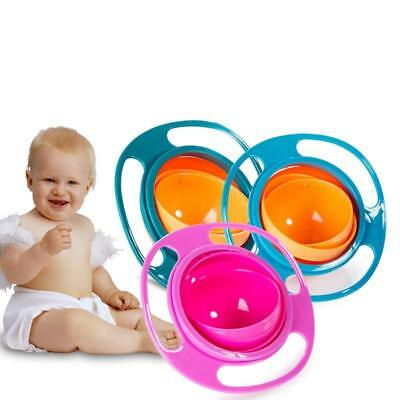 360 Rotate Baby Feeding Dishes Spill-Proof Bowl Children's Baby Tableware Gyro