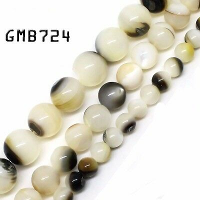 Natural Black Lip Shell Beads for Jewelry Making Loose Beads Strand 6/8/10mm15''