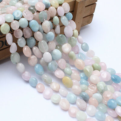 Natural Freeform Morganite Stone Beads for Jewelry Making Loose Bead 8-10mm 15''