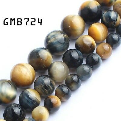 Natural Gemstone Dream Yellow Tiger Eye Beads for Jewelry Making 15'' 6 8 10mm