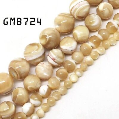 "Natural Gemstone Trochus Shell Stone Beads Strand 15"" Wholesale Jewelry Making"