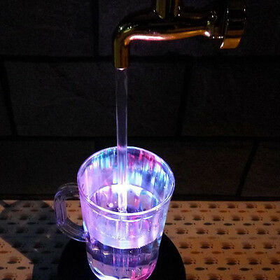 Home Decor LED Magic Faucet Mug Colorato Water Light Floating Fountain Faucet@LQ