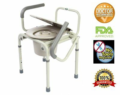 Healthline Trading Commode Drop Arm 3 In 1