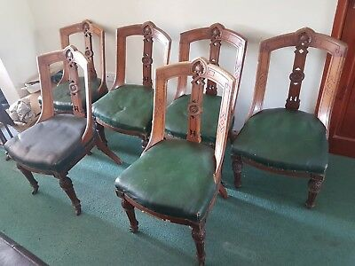 set of 6 antique dining chairs circa 1880