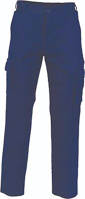 DNC Lightweight Cotton Drill Cargo Work Pants W/ Tool & Mobile Pocket Stout Size