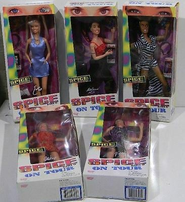 Spice Girls on Tour Girl Power Complete Set of 5 Dolls NRFB Rare 1998 Vintage