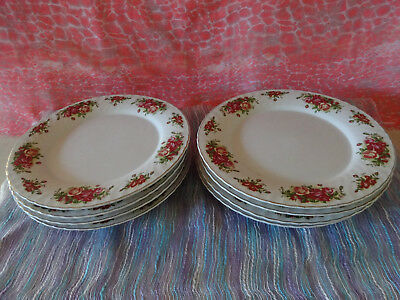 English Rose Dinner Plates x 8.