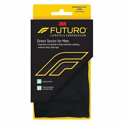 Futuro Restoring Dress Socks X-Large Firm Black 1 Pair Each (Pack of 6)
