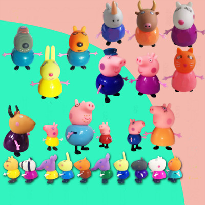 25/1x Set Peppa Pig Friends Action Figures Kids Toys Gift Emily Rebecca (S99)
