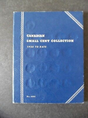 Vintage Whitman Coin Folder Canada Small Cent Pennies w/ 47 Coins 1920-64