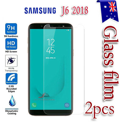 2X Samsung Galaxy J6 2018 / On6 Tempered Glass / Plastic Screen Protector Film