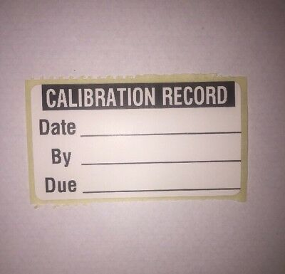 100 x Calibration Record Labels Next Due Reminder Stickers
