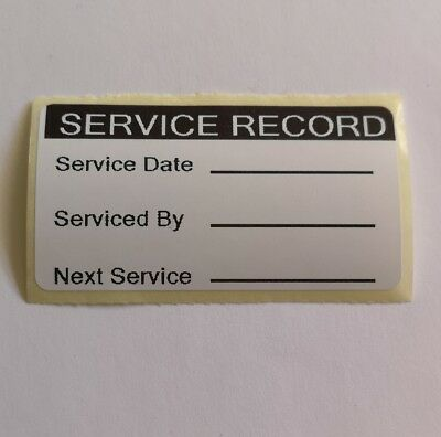 x50 Service Record Stickers Next Service Reminder Labels