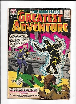 My Greatest Adventure #80 ==> Gd/vg 1St Doom Patrol Dc Comics 1963