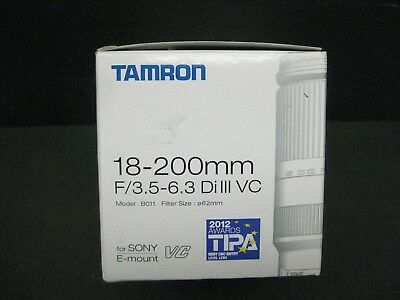 Tamron 18-200mm f/3.5-6.3 III Di VC lens B011 for Sony E mount new demo USA