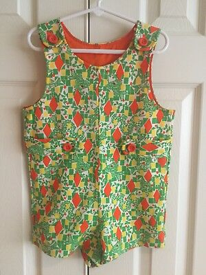 "Vintage Boy Toddler Lilly Pulitzer ""The Minnie"" Fish/Serpents Romper Sz 2-4?"