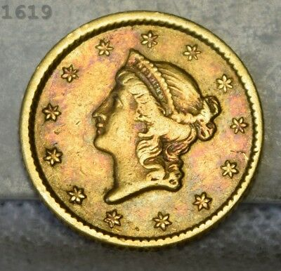 1851 Coronet Head Gold $1 *Free S/H After 1st Item*