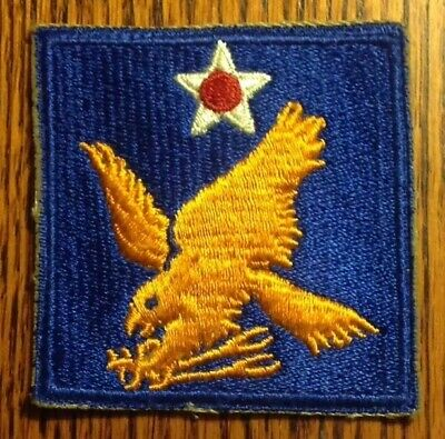 ORIGINAL WWII - U.S. 2nd AIR FORCE PATCH WORN (ONE PATCH)