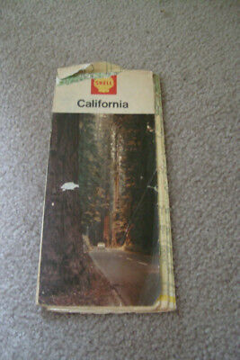 Old California road maps by Shell