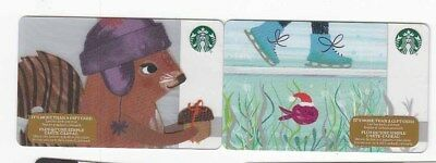 2 diff STARBUCKS gift cards Canada bilingual NO VALUE collectors only #2