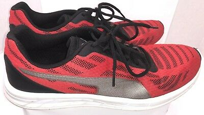 fb58c646fa3 PUMA Sport LIfestyle Mens size 12 Gym Shoes Sneakers Running Walking Red  Black